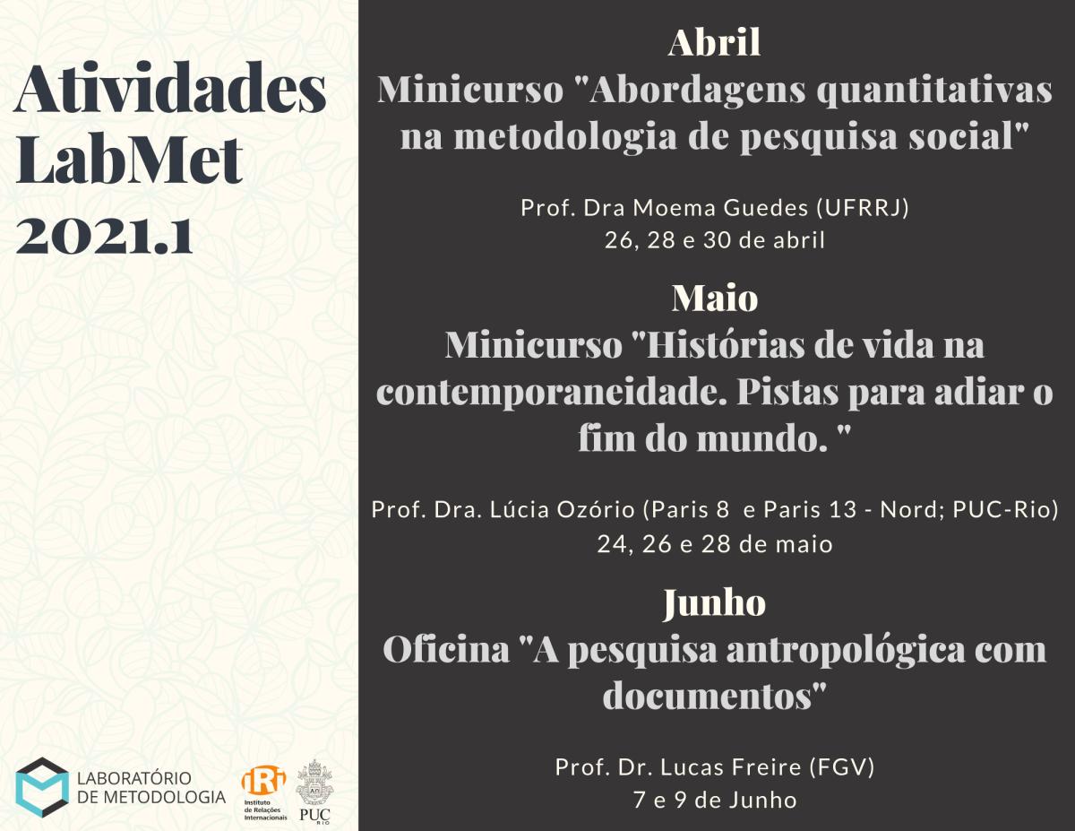 Agenda Laboratório de Metodologia2021.1